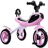 ZDW Bicicleta de triciclo para niños Bicicleta para niños 3-7 años Cochecito de bebé para hombres y mujeres Bicicleta con iluminación y música Sombrilla para exteriores Sombrilla portátil