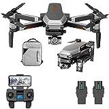 FXQIN RC Quadcopter para Adultos, Drone, GPS Dron con cámara 4K HD, Drone FPV WiFi 5G, Cardán mecánico 2 Ejes, Resistencia al Viento de Nivel 7, Zoom de 50x, 2 baterías
