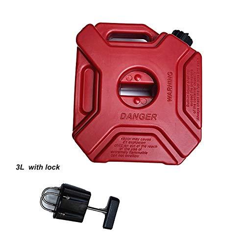 Zhangenlian- Los Tanques de Combustible de plástico latas de Gasolina del Coche Bidón Bidón Soporte for Motocicleta Gas Puede Gasolina Contenedor de Aceite bombona de Combustible for BMW 3L 5L