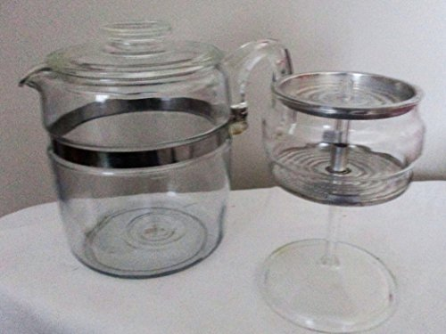 Vintage Pyrex Flameware Percolator w/ Glass Stem and Basket