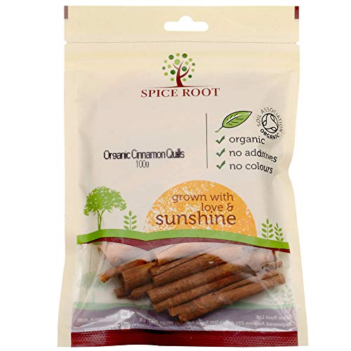 Bio Ceylon Zimt Quills 100g (Bio Ceylon Cinnamon Sticks) - Premium Qualität, Extra lang, duftend, Ceylon Sorte