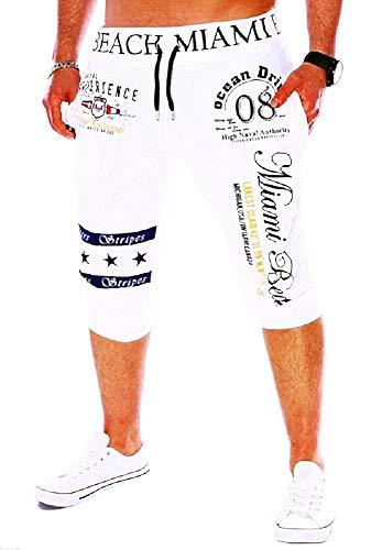 Bijgesneden broek - heren - 3/4 - sport - shorts - trainingspak - sport - mode - trekkoord - bedrukt - wit - origineel geschenkidee