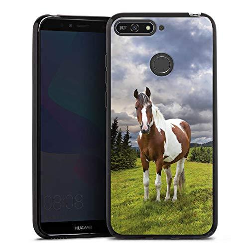DeinDesign Silikon Hülle kompatibel mit Huawei Y6 Prime 2018 Case Schutzhülle Pferd Horse Stute