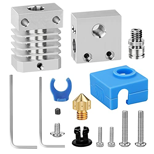 Riiai 3D Printer Accessories Full Metal Hot End Kit, Portable Assembly Extruder Kit