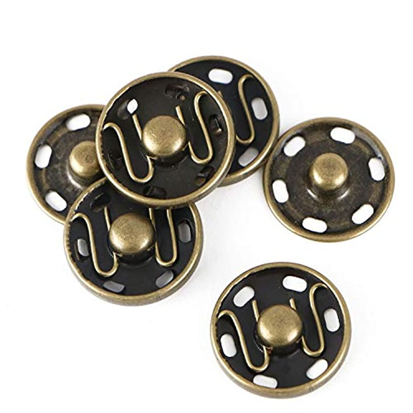 Monrocco 30 Set 19mm Sew-On Snaps Press Buttons Metal Snap Buttons