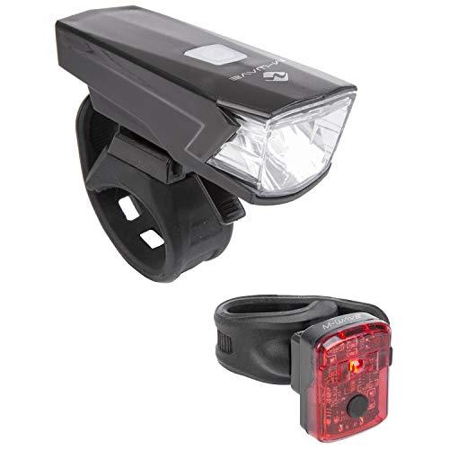 M-Wave Unisex - Adulto Atlas K 11 USB lámpara de batería LED, Color Negro