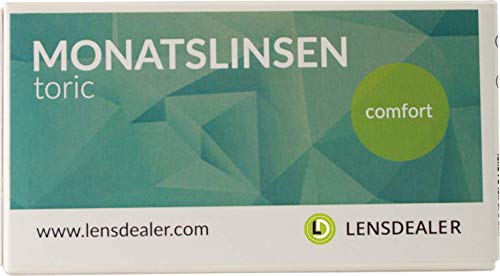 Lensdealer Monatslinsen Comfort Toric weich, 6 Stück, torische Hydrogel Kontaktlinsen