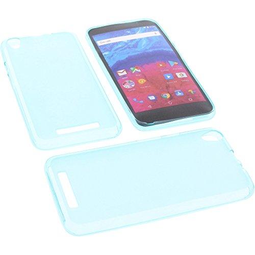 foto-kontor Tasche für Archos Core 55 Gummi TPU Schutz Handytasche blau