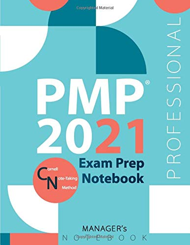 """PMP 2021 Exam Prep Notebook, Project Management Professional Exam Study Plan, Professional Manager's Exam Study Notebook, 154 pages, PMP 2021 ... x 11"""", White paper, Glossy cover, Style 4"""