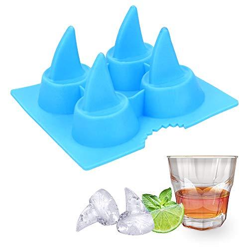 WATERMELON DIY-Haifisch-Flosse-Form-EIS-Würfel-Behälter-Silikon-EIS-Form-Whiskey, Wein, Cocktail Eiswürfel EIS-Hersteller-Form-Küche-Werkzeug