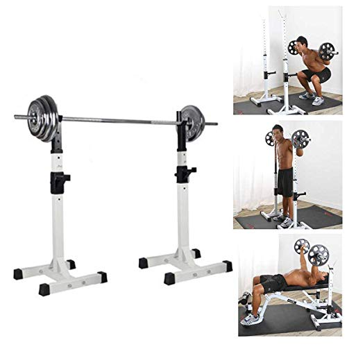 IWTGR Split Squat Rack Bench Press Multi-Function Barbell Rack Load 400Lbs Adjustable Height Used for Gym/Home Gym Portable Squat Rack Height 37.5''-58.5''
