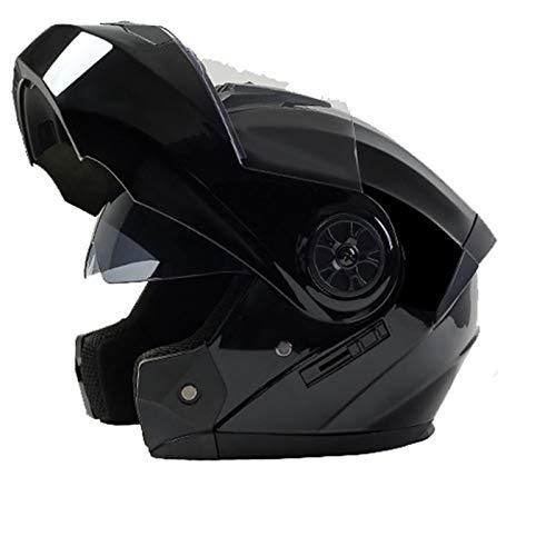 DUCCM Casco Moto Modular Integral ECE Homologado Flip Up Casco de Moto de Carreras Moto abatible Casco Integral para Mujer Hombre Adultos