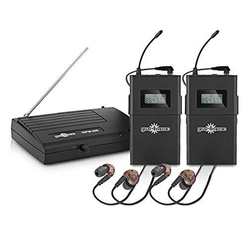 Drahtloses In-Ear Monitoring-System-Set von Gear4music 2 Empfänger