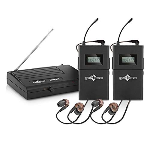 Drahtloses In-Ear Monitoring-System-Set von Gear4music 2 Empfanger