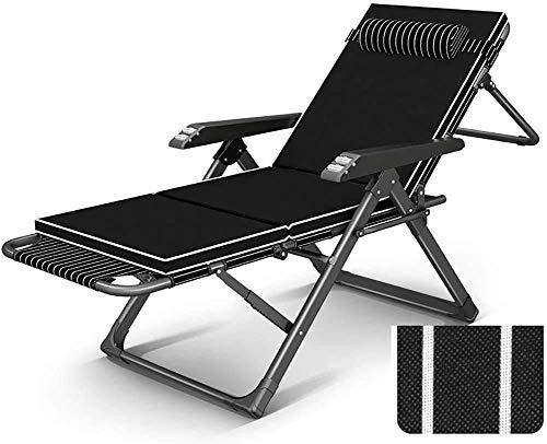 N/Z Equipo Diario Sillas Plegables reclinables para Exteriores Sillón de salón Sillón Ajustable para jardín Patio de Acampada