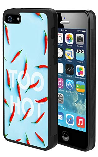 Red Hot Peppers Case for iPhone SE 5s 5, TPU and PC Customized Design Skin Cover, Black Anti-Slippery Anti-Scratch Protective Case for iPhone SE 5s 5
