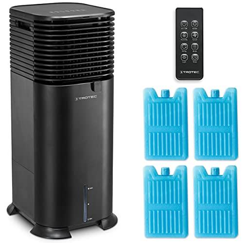 TROTEC PAE 50 Aircooler 4-in-1 Mobile Klimaanlage Klimagerät Ventilator Luftreiniger 20 L Tank 4 Gebläsestufen Timer Ionisator Luftbefeuchter Luftkühler