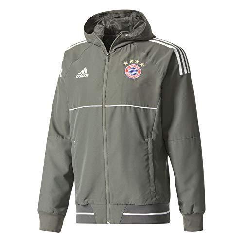 adidas FCBUCL PRE JK Chaqueta FC Bayern de Munich, Hombre, Gris (Carbon/Balcri), S