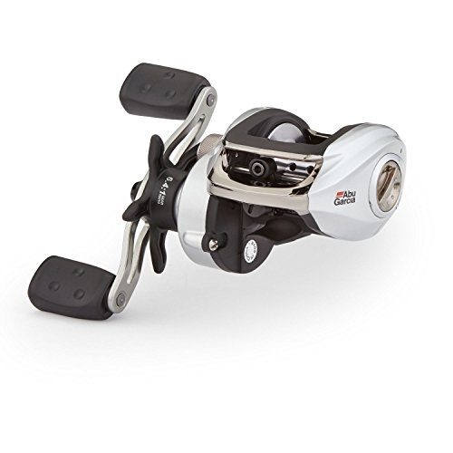 Abu Garcia SMAX3 Silver Max Low Profile Baitcast Fishing Reel (Right handed),Black, White
