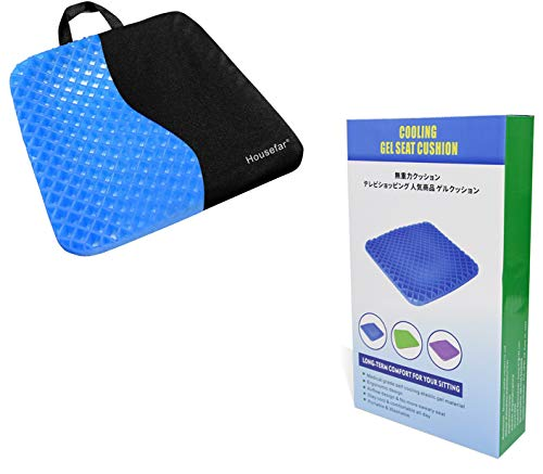 GENERAL ARMOR Gel Seat Cushion,Coccyx Cushion,Breathable Cushion Ergonomic Tailbone and Sciatica Relief Back, Honeycomb Designed Coccyx Pain Relief Seat Cushion for Office Chair Home Wheelchair