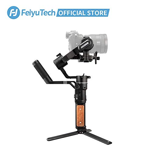 FeiyuTech AK2000S - Estabilizador para cámara réflex digital sin espejos, 3 ejes, hasta 2,2kg, pantalla táctil LCD, para Canon 6D, 5D, Mark, Nikon D500, D7500, Sony A9, A7R2, A6500, Panasonic