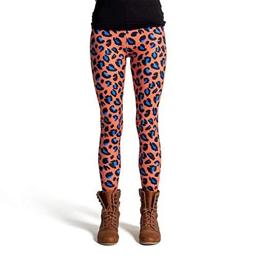 cosey Damen Animalprint Leopardenmuster Leggings, D1, Einheitsgröße