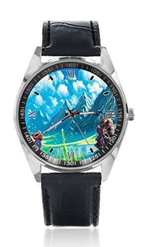 Howl 039 S Moving Castle Hauru No Ugoku Shiro Herren Ledergürtel Uhr Schlicht Klassisch Stil Sportuhr für Herren Schlichtes Design und Mode