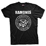 Ramones T-Shirt Logo Band Classico Sigillo Seal Maglia Maglietta Punk Rock – Ufficiale Originale (Small)