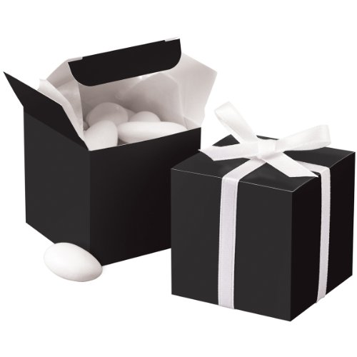 Wilton 1006-0638 Black Square Favor Box Kit, 100 Count