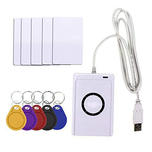 Reader USB ACR122U Contactless Smart IC-Karte und Writer Kopierer Kopierer Duplicator 5Pcs UID Veränderbare Umbau-Karte Schlüsselanhänger
