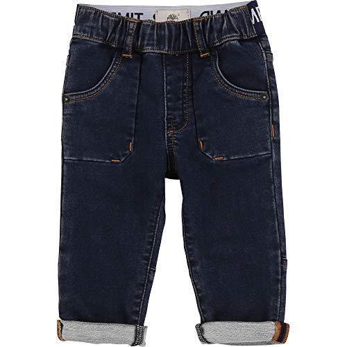 Timberland Pantalon Denim Effet Molleton Layette Denim Blue 18MOIS