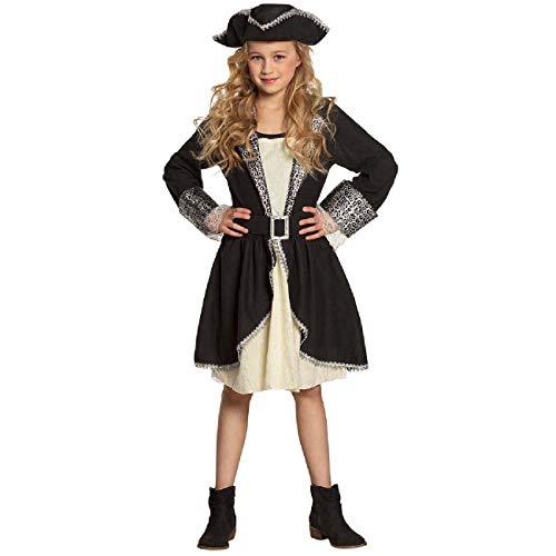 Boland 82282 - Kinderkostüm Piratin Tracy, für Mädchen zwischen 10 und 12 Jahren, ca. 140-160 cm, Hut, Kleid, Gürtel, Kostümset, Seeräuberin, Freibeuterin, Mottoparty, Karneval