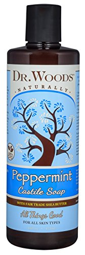 Dr. Woods Pure Castile Soap with Organic Shea Butter - Peppermint - 16 oz by Dr. Woods
