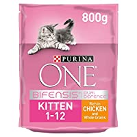 With PURINA ONE BIFENSIS. A unique nutritional formula with beneficial functional bacteria scientifically proven to help support your cat's natural defences from the inside out. Healthy development of vital functions supported by a nutrient profile a...