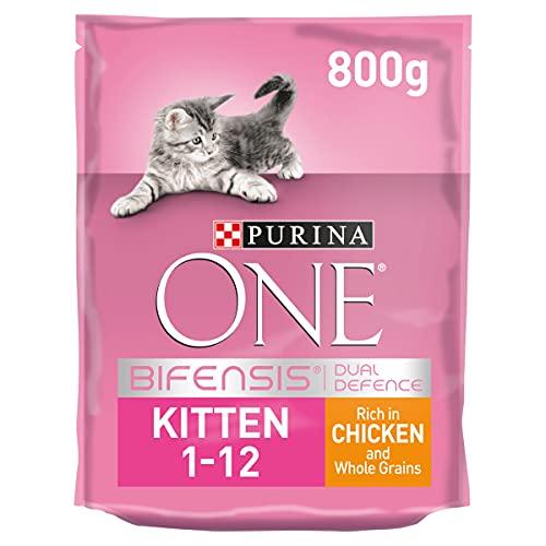 Purina ONE Kitten Dry Cat Food Chicken & Wholegrain 800g (Case of 4)