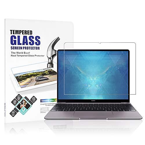 J&D Compatible para 1-Pack Huawei MateBook 13 Protector de Pantalla, [Cristal Templado] [NO Cobertura Completa] HD Claro Vidrio Balístico Protector de Pantalla para Huawei MateBook 13