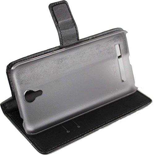 caseroxx Handy Hülle Tasche kompatibel mit UMi Touch/Touch X Bookstyle-Hülle Wallet Hülle in schwarz