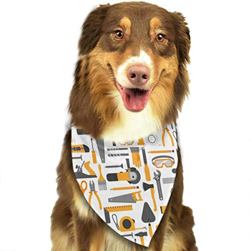 N/D Bouw Gereedschap Aangepaste Hond Hoofddoek Heldere Gekleurde Sjaals Leuke Driehoek Bibs Accessoires Voor Huisdier Honden