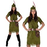 Disfraz Traje De Halloween para 3 Personas Linda Fiesta Familiar Accesorios De Cosplay De Robin Hood Peter Pan Green Elf Ropa Unisex para Niñas Niños Moda Adultos,Women,M