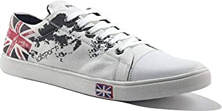 VAZEE Men's Sneaker Shoes Graphic Printed Canvas Footwear/Synthetic