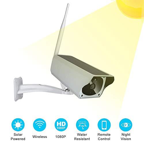 Mavis Laven Cámara de Seguridad inalámbrica, 1080P HD WiFi Energía Solar al Aire Libre Cámara IP de Baja Potencia Vigilancia inalámbrica Cámara IR, Sistema de cámara de Seguridad inalámbrica