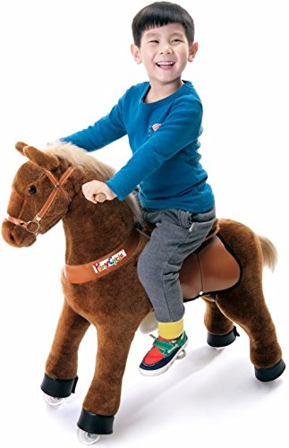 PonyCycle Beiges Pferd auf Rädern Medium