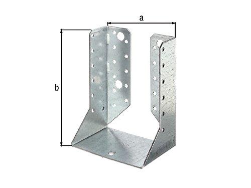 100 x 140mm Holzverbinder innenliegend Balkenschuh innen mit ETA Zulassung - verzinkt