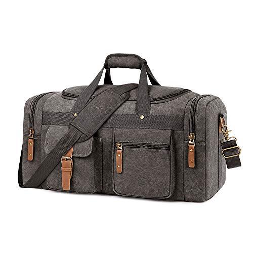 Plambag Large Canvas Duffel Bag Overnight Travel...