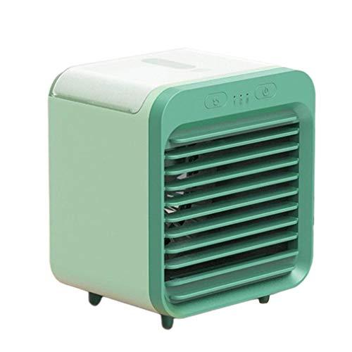 Mini USB Air Cooler Fan Air Conditioner Desktop Air Cooling Fan Humidifier(Green)