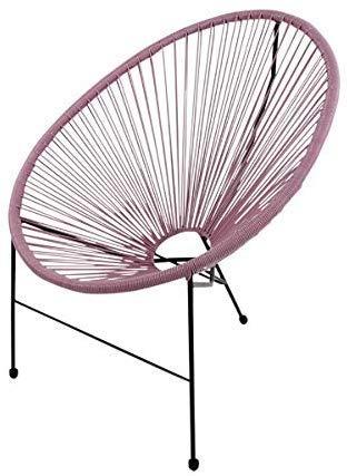 Voss Design Genialer Stuhl Acapulco Papasansessel Gartensessel Rosa Pink Sessel Seile