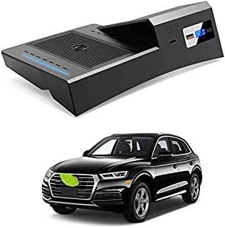 Bwen Car Wireless Charger Mount fit for Audi Q5 2018-2020,Fast Charging Compatible Enabled Wireless Phone Charging Devices Accessory