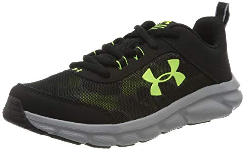 Under Armour Unisex-Kinder Grade School Assert 8 Laufschuhe, Schwarz (Black/Steel/X-Ray), 36 EU