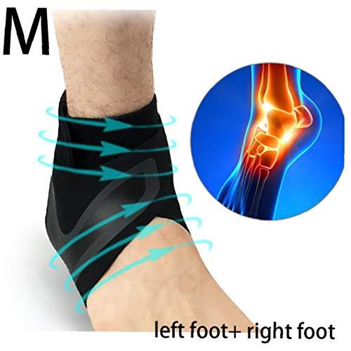 1 par de Soporte para el Tobillo de Neopreno Transpirable de compresión de Tobillo elástico esguince del pie de la Manga Deportes Protector Protector del Tobillo para el Hombre y la Mujer (M)