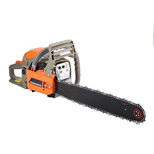 Dioche Motosierra de gasolina de 2200 W con longitud de la hoja de 47 cm, para cortar madera, motosierra de desenganche para madera, 3000 rpm